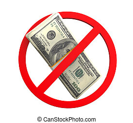 No Money Symbol
