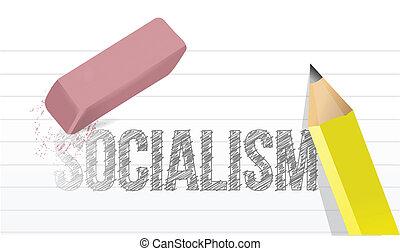 no more socialism concept illustration design