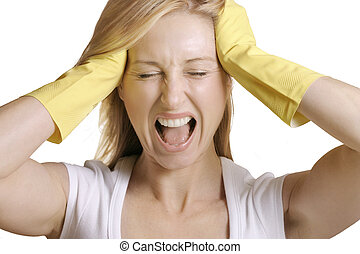 No more! - Her reaction to housework