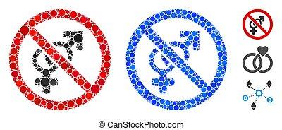 No Mosaic Icon of Circle Dots