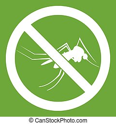 No mosquito sign icon green