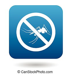 No mosquito sign icon, simple style