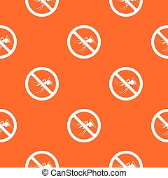 No mosquito sign pattern seamless