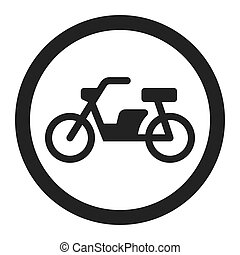No motorcycle prohibition sign line icon, Traffic and road ...