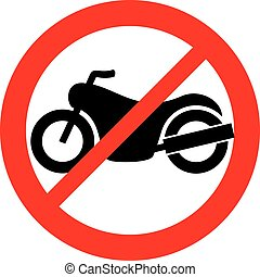 no motorcycle prohibition sign (not allowed icon)