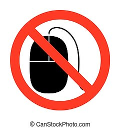 No Mouse sign illustration.