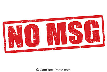 No MSG stamp - No MSG grunge rubber stamp on white, vector...
