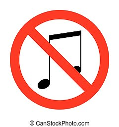 No Music sign illustration.