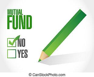 no mutual fund check mark illustration design over a white...