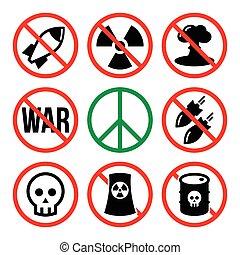 No nuclear weapon, no war, no bombs