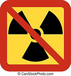 No nuclear weapons sign on white background. Vector illustration.