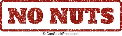 No Nuts Rubber Stamp - Dark Red rubber seal stamp with No...