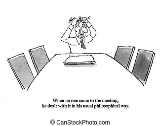 No one came to meeting - Team leader is alone in meeting