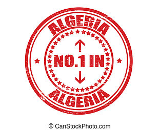 No one in Algeria - Stamp with text no one in Algeria inside...