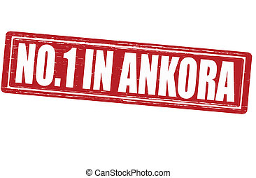 No one in Ankora - Stamp with text no one in Ankora vector...