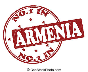 No one in Armenia - Stamp with text no one in Armenia inside...