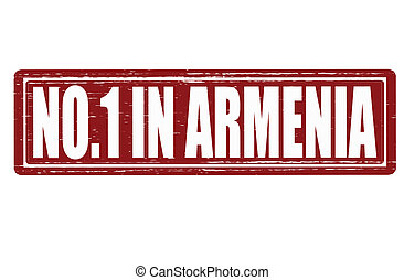 No one in Armenia - Stamp with text no one in Armenia...