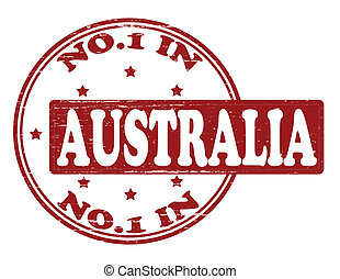 No one in Australia - Stamp with text no one in Australia...