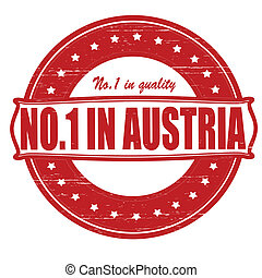 No one in Austria - Stamp with text no one in Austria inside...