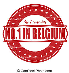 No one in Belgium - Stamp with text no one in Belgium...