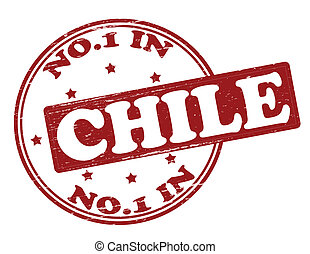 No one in Chile - Stamp with text no one in Chile inside, ...