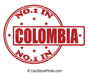 No one in Colombia - Stamp with text no one in Colombia...