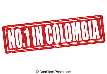 No one in Colombia - Stamp with text no one in Colombia ...