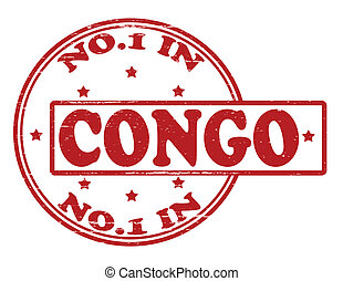 No one in Congo - Stamp with text no one in Congo inside, ...