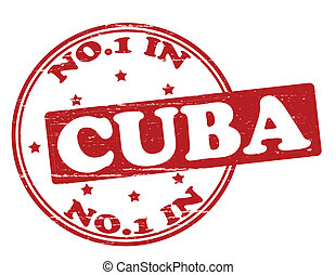 No one in Cuba - Stamp with text no one in Cuba inside,...