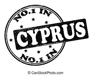 No one in Cyprus - Stamp with text no one in Cyprus inside,...