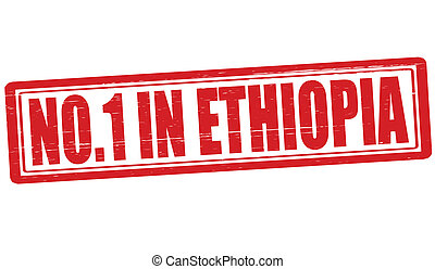 No one in Ethiopia - Stamp with text no one in Ethiopia...