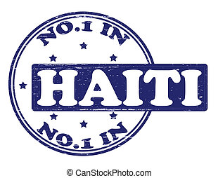 No one in Haiti - Stamp with text no one in Haiti inside,...