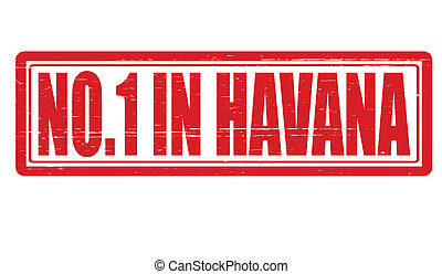 No one in Havana - Stamp with text no one in Havana inside, ...