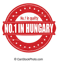 No one in Hungary - Stamp with text no one in Hungary inside...