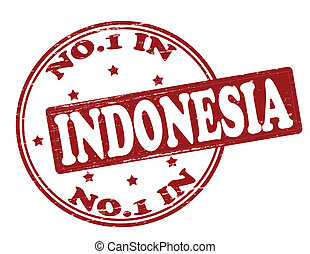 No one in Indonesia - Stamp with text no one in Indonesia ...