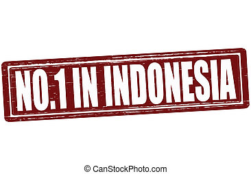 No one in Indonesia - Stamp with text no one in Indonesia...