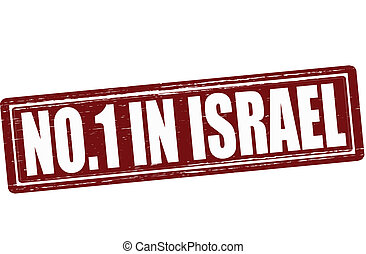 No one in Israel - Stamp with text no one in Israel vector...