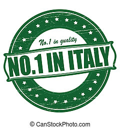 No one in Italy - Stamp with text no one in Italy inside, ...