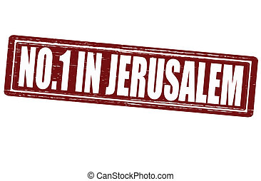 No one in Jerusalem - Stamp with text no one in Jerusalem...