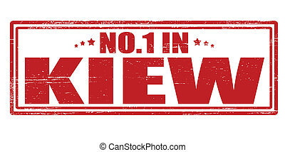 No one in Kiew - Stamp with text no one in Kiew vector...