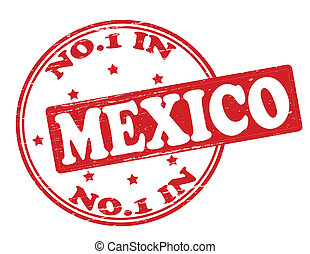 No one in Mexico - Stamp with text no one in Mexico inside,...