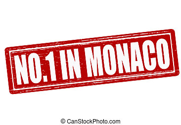 No one in Monaco - Stamp with text no one in Monaco inside,...