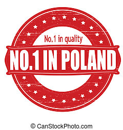 No one in Poland - Stamp with text no one in Poland inside,...