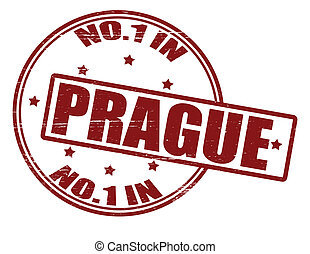 No one in Prague - Stamp with text no one in Prague inside, ...