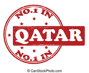 No one in Quatar - Stamp with text no one in Quatar inside,...