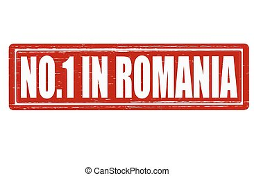 No one in Romania - Stamp with text no one in Romania...