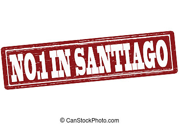 No one in Santiago - Stamp with text no one in Santiago...