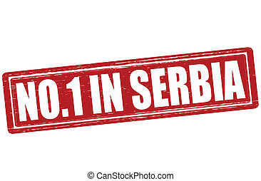 No one in Serbia - Stamp with text no one in Serbia inside,...