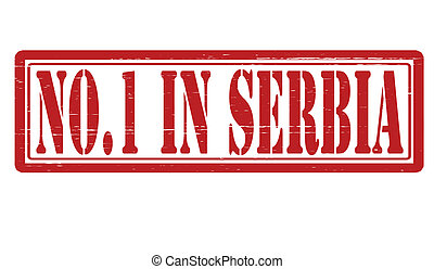 No one in Serbia - Stamp with text no one in Serbia inside, ...