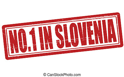 No one in Slovenia - Stamp with text no one in Slovenia...